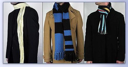 как правильно завязывать шарф на пальто