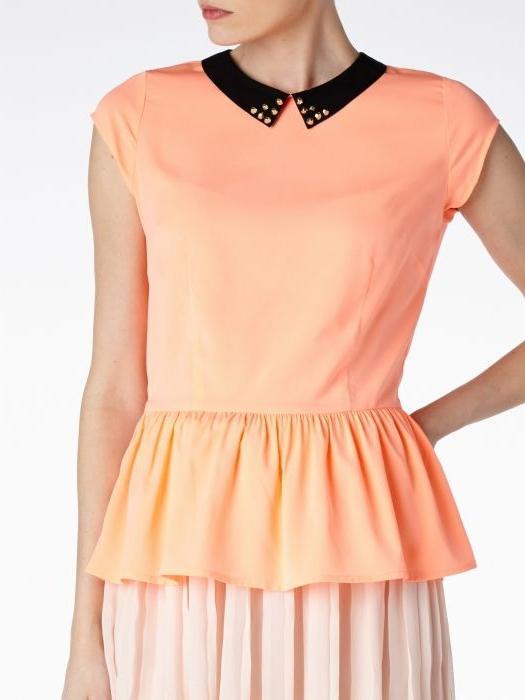 Блузка с баской - модная деталь гардероба