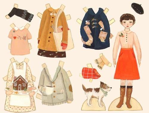бумажные куклы и одежда для них