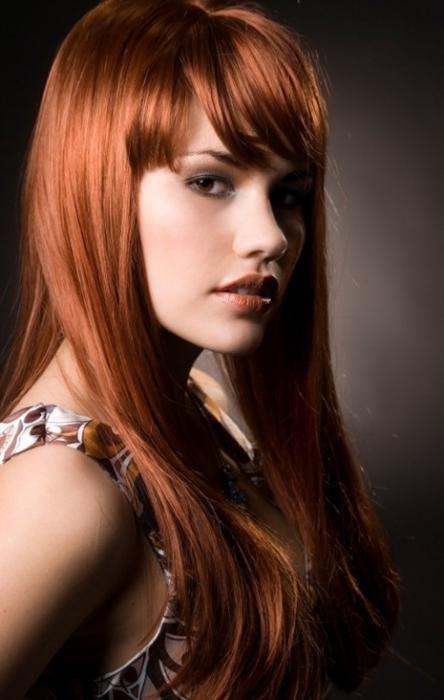 креативные челки на длинные волосы