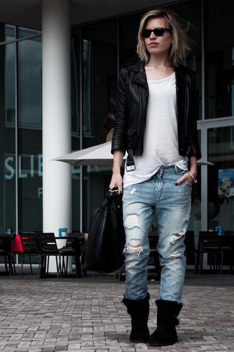 что носить с джинсами бойфрендами