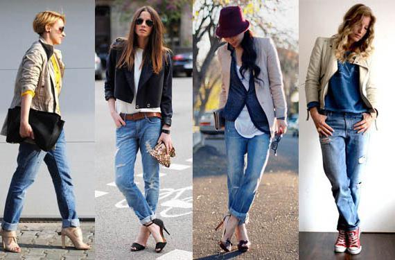 как носить джинсы-бойфренды зимой