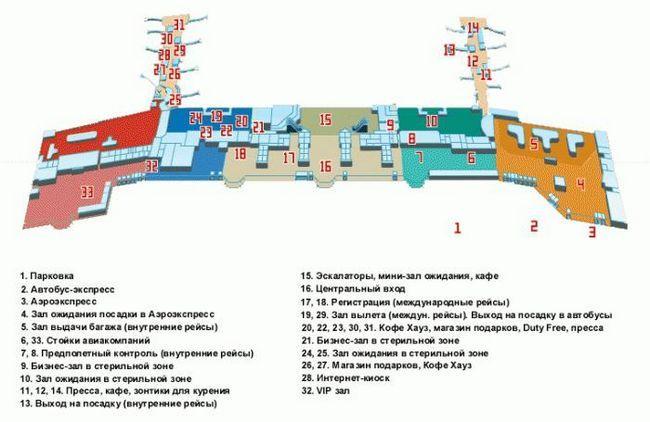 домодедово схема аэропорта