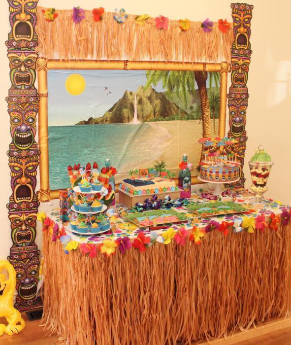 Вечеринка для детей в гавайском стиле