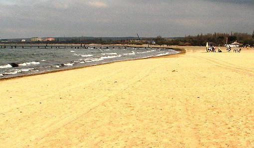 песчаный пляж на черном море