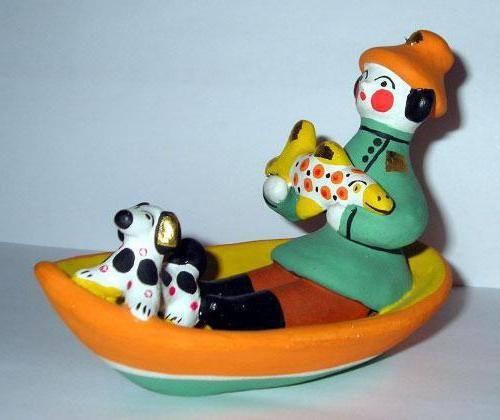 русская глиняная игрушка