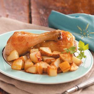 курица с картошкой тушеная в мультиварке
