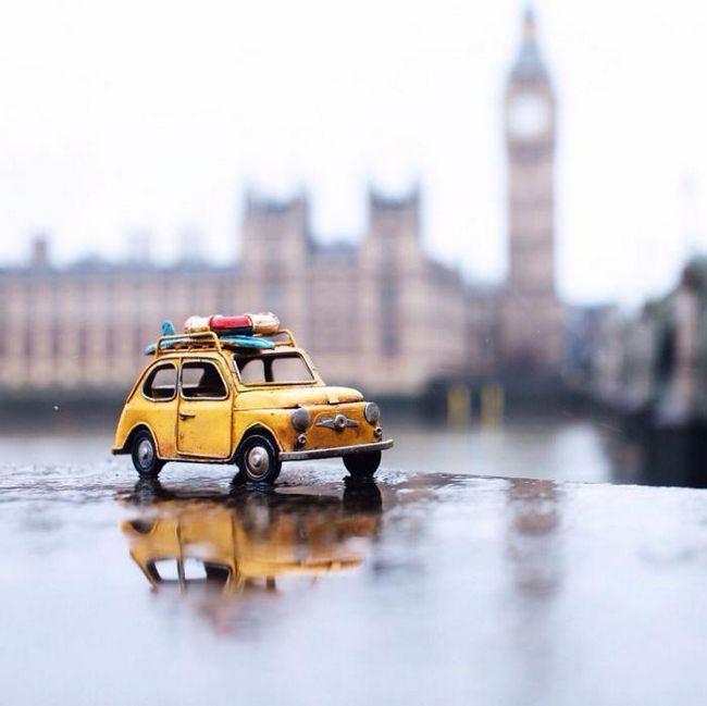 Интересный фотопроект: открываем огромный мир вместе с маленькими машинками