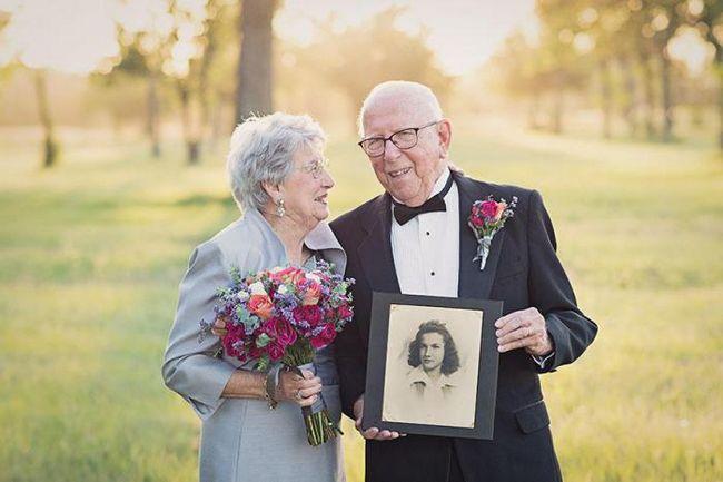 Эта пара ждала 70 лет, чтобы сделать свадебные фото. И они просто очаровательны!