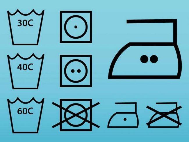 Значки на этикетках одежды