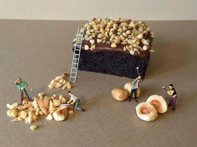 Этот кондитер превращает десерты в миниатюрные миры