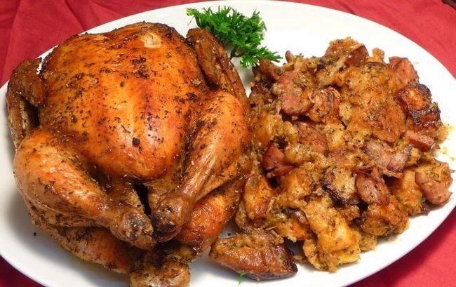 приготовить курицу гриль в духовке