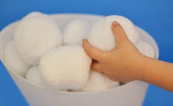 снежки из ваты своими руками