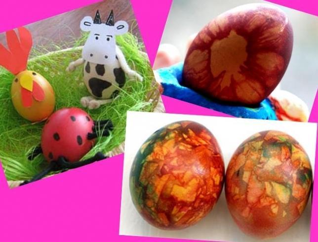 Как красить яйца на пасху и какие можно изготовить к этому празднику поделки