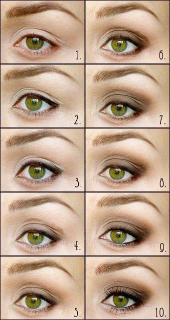 макияж для маленьких глаз с нависшим веком
