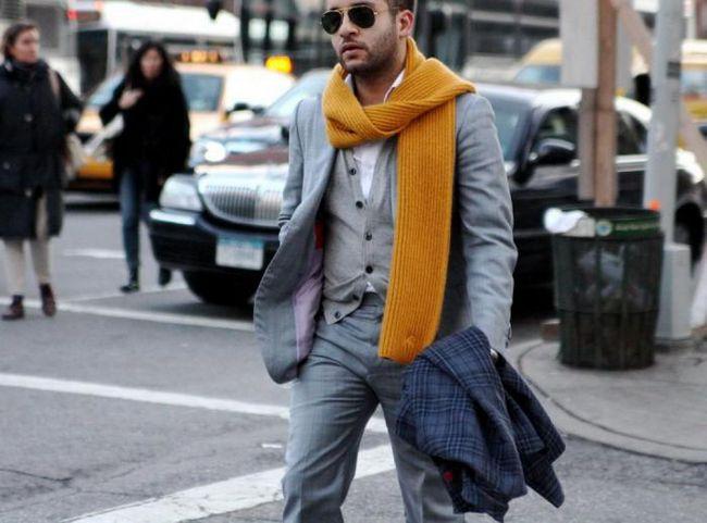 Как лучше всего носить шарф мужчине?