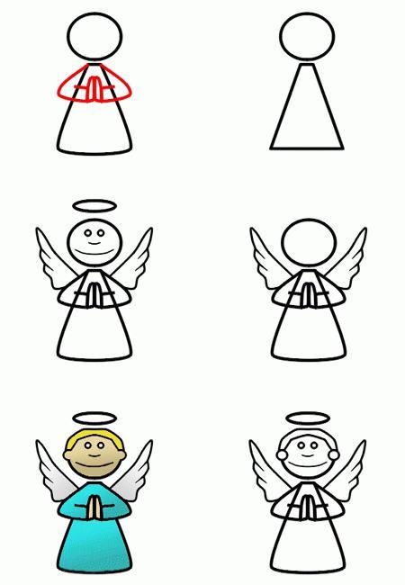 Как нарисовать ангела: мелкие хитрости для упрощения рисунка