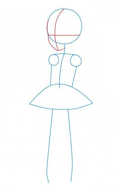 как нарисовать девушку в платье