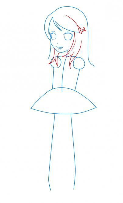 как нарисовать девочку аниме
