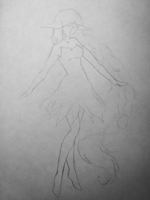 Как нарисовать эльфа поэтапно карандашом
