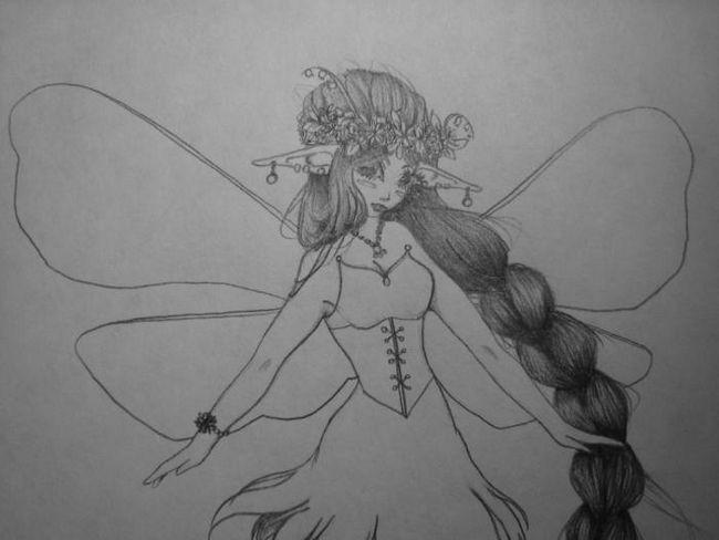 Как нарисовать эльфа с крыльями