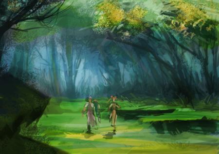 как нарисовать лес поэтапно