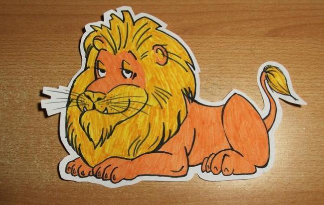 Как нарисовать льва из мультфильма (для начинающих)