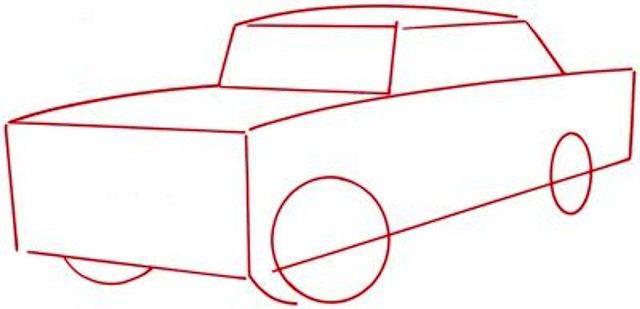 Как нарисовать машину карандашом - мастер-класс