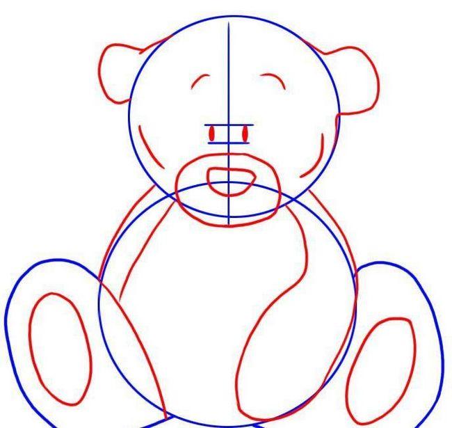 Как нарисовать мишку тедди. Мастер-класс