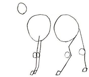 Как нарисовать оленя с ребенком