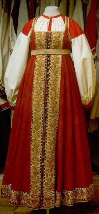 русский народный костюм фото нарисовать