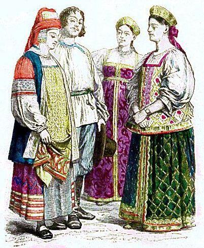 нарисовать русский народный костюм пошагово