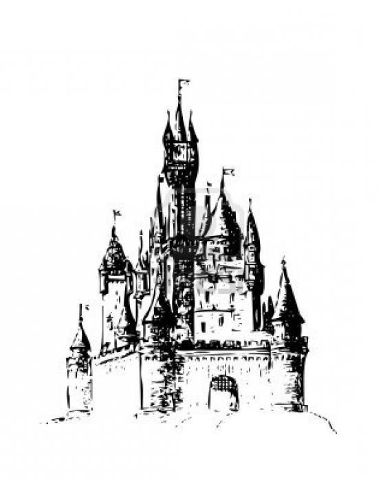 Как нарисовать замок. Пошаговая инструкция