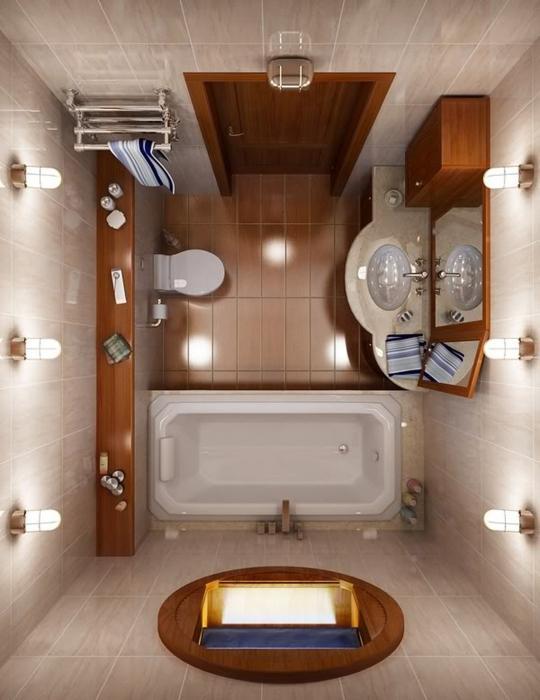 Как обустроить интерьер маленьких ванных комнат?