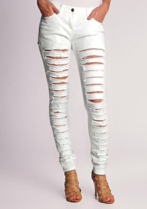 джинсы узкие женские