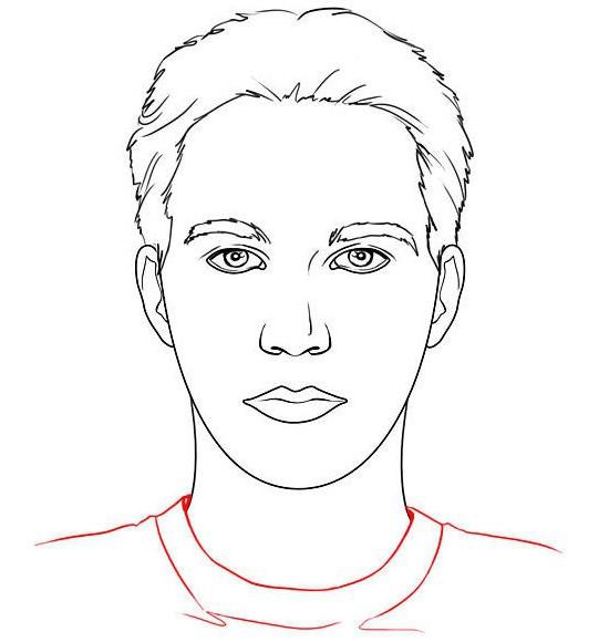 Как правильно рисовать лицо человека анфас?