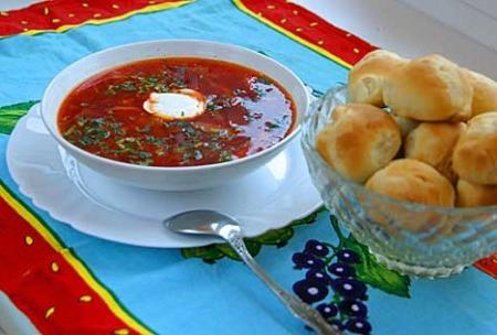 Как приготовить борщ с мясом по-украински