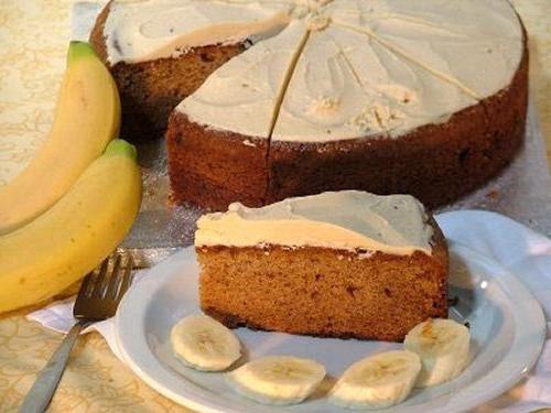 вкусный банановый торт