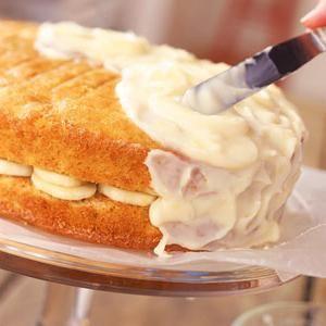 торт сметанно банановый