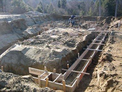 Как рассчитать фундамент под сруб или для гаража?