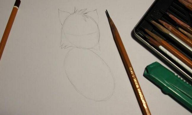 как рисовать котят карандашом