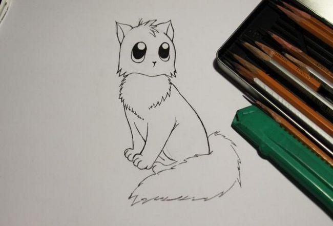 как рисовать котенка