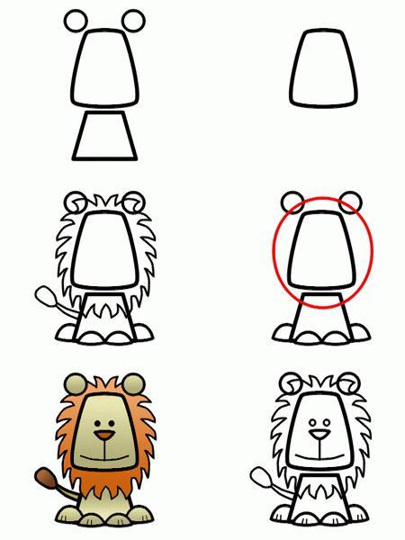 Как рисовать льва? Разбор строения тела и пошаговые инструкции