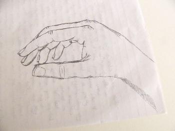 как рисовать руку