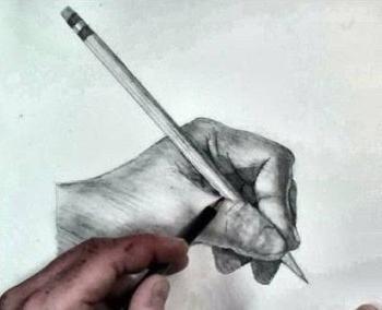 рисуем карандашом руки