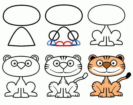Как рисовать тигра, мультяшного и настоящего