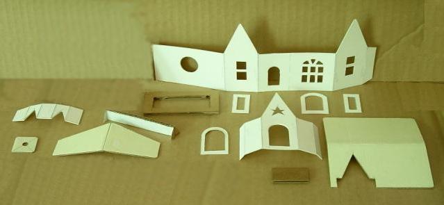 Как сделать дом из бумаги для игр или украшения интерьера