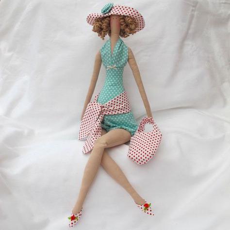 как сделать из ткани куклы