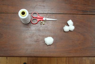 как сделать снежки из ваты