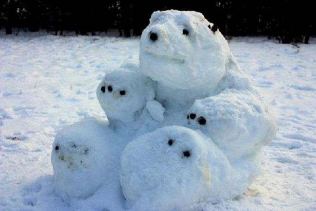Как слепить оригинального снеговика: 15 свежих идей